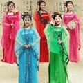 Venda quente 9 Cores Tradicional Chinesa Bonita Dança Traje Chinês Antigo Traje Vestido Hanfu Dinastia Chinesa