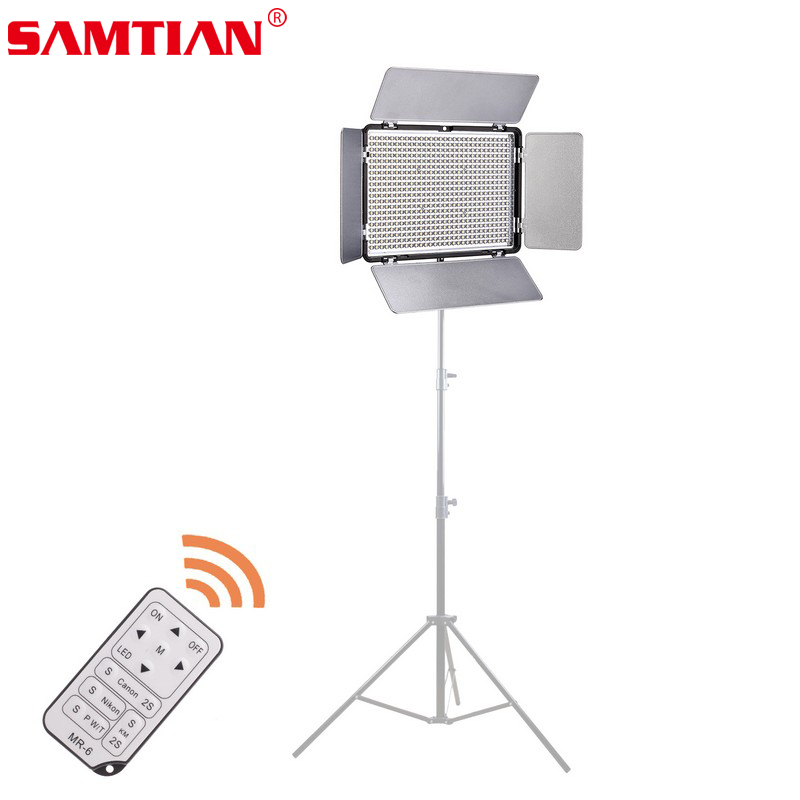 SAMTIAN 600 LED 3500Lm CRI 95 3200~5600K LED Video Light with Remote Control For Photographic Lighting Video/Photo/Stdio/Phone