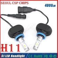 2016 Newest S1 1set H11 4000lm 40W 6500k Car LED Headlight Kit DRL Driving Lamp H8