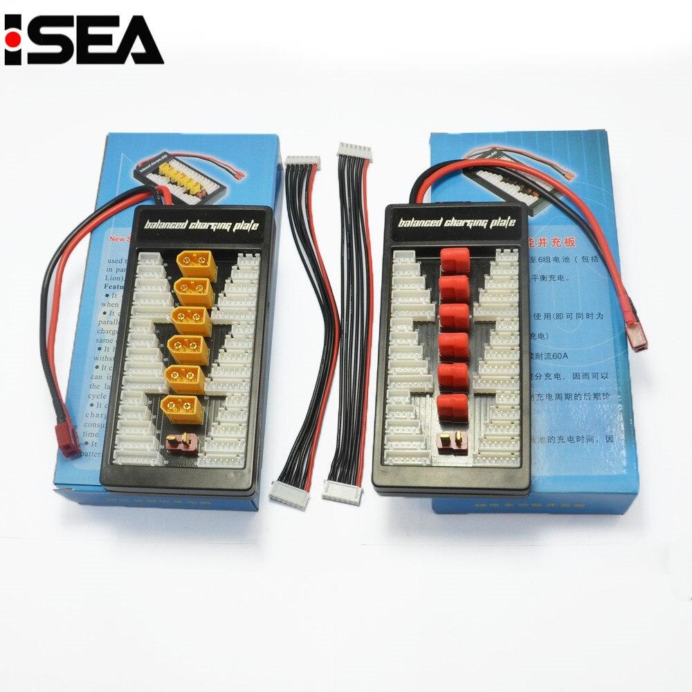 T-plug Deans Ladung Vorstands XT60 Parallel Ladeadapter Board 2-6 s Lipo Batterien Ladegerät Platte Für Imax B6 B6AC