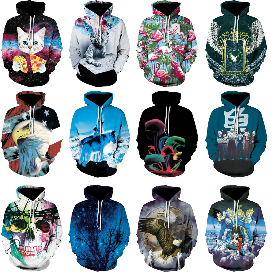 ZY 20 Colors 3D Anime Hoodies With Print High Quality Pullover Hoodie Coat Unisex Sweatshirt Sportswear Polerones Homme