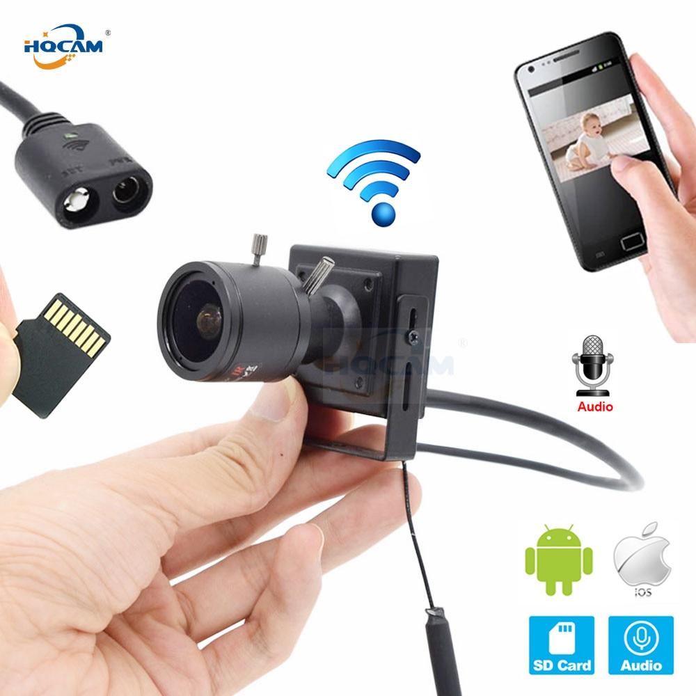 купить HQCAM CCTV Security Mini Ip Camera wifi 720P 960P 1080P Surveillance Support Audio SD Slot Ipcam Wireless 9-22mm Manual zoom len по цене 2585.83 рублей