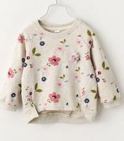 2016 Autumn Children S Clothes Fashion Floral Long Sleeve Cotton Baby Girl Pullovers T Shirts For