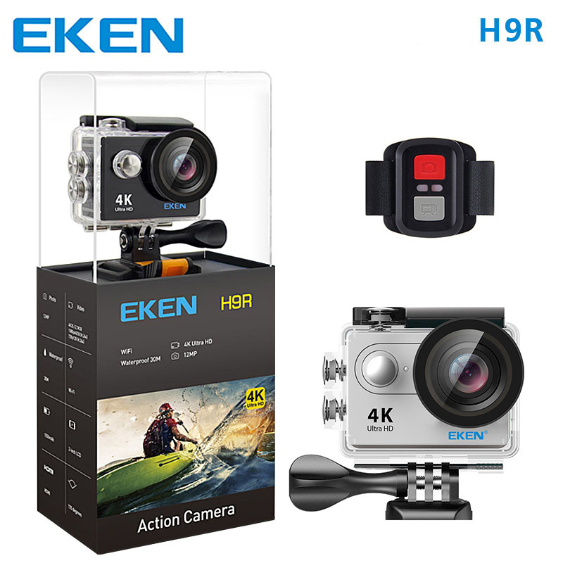 10 pcs original H9R action cameras with remote controller DHL shipping