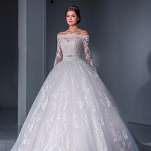 Ball Gown Wedding Dresses Long Sleeves Bridal Gowns