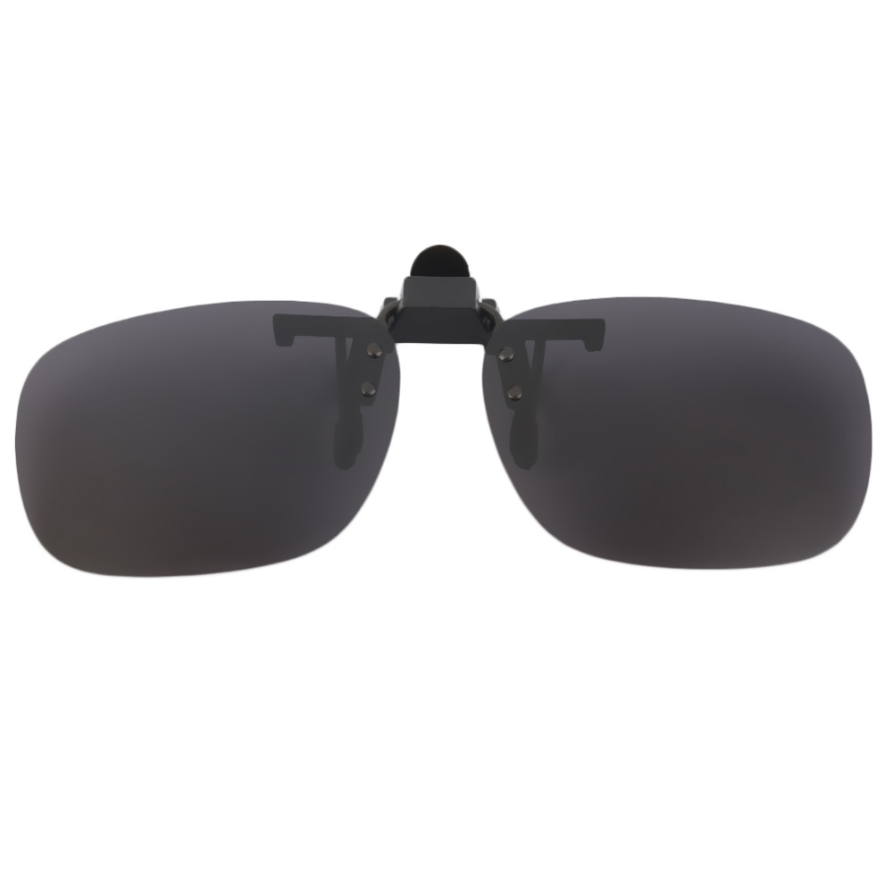 Fashion Polarized Clip On Sunglasses UV 400 TAC Plastic Metal Clip-on Flip-up Driving Glasses Lens Black/Brown Color Sunglasses