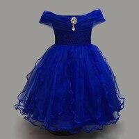 שמלת ילדה קיץ 4-8 שנות ייבי בנות להתלבש בגדי בגדי תינוקות 4 צבעי מסיבת חתונה ימי הולדת
