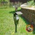 Repelente de animales de pulverización de chorro respetuoso con el medio ambiente con movimiento Solar de 2018, repelente de aves de plagas de jardín con Panel Solar #31007