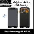 100% prueba buena lcd original para samsung galaxy s7 g930 g930f/a/t/p lcd pantalla táctil de reemplazo digitalizador envío gratis