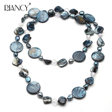Fashion natural freshwater pearl necklace for women long mother of pearl necklace bohemia Baroque sweater necklace gift стоимость