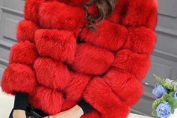 2018 faux pelz mantel plus größe Winter Neue mode marke Faux pelz fuchs jacke frau warme gute qualität warme dicke faux pelz mantel