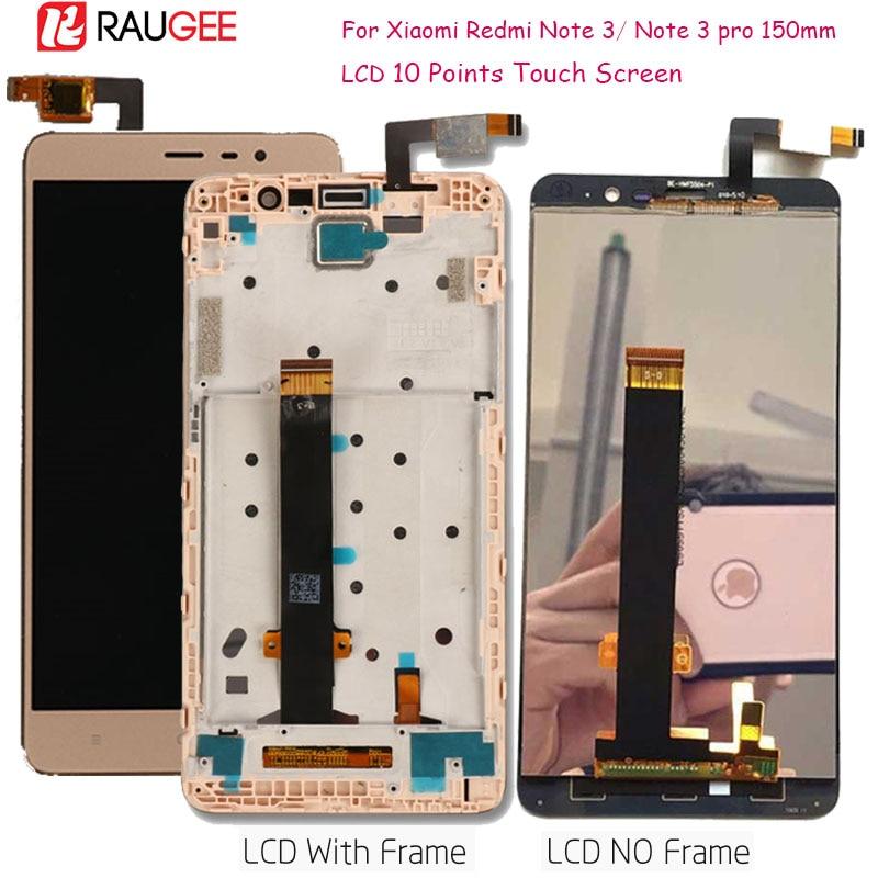Für Xiaomi Redmi Hinweis 3 LCD Display Touchscreen mit Weichen-schlüssel Hintergrundbeleuchtung/Mittleren Rahmen für Redmi Hinweis 3 Pro/Prime Bildschirm 150mm