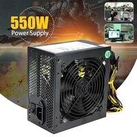 400 Вт 550 Вт пиковый блок питания для ПК блок питания черный игровой 120 мм вентилятор синий светодиодный 20/24pin 12 В ATX Высококачественный Компьют...
