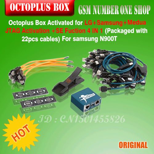 Octoplus Box  for LG +Samsung+sony with Medua JTAG Activation  with 22pcs cables