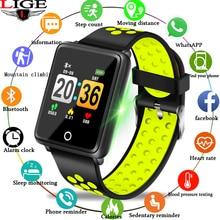 LIGE Sport Smart Bracelet Fitness Smart Watch Bluetooth Connection Heart Rate Blood Oxygen Monitor Pedometer WaterproofWristband