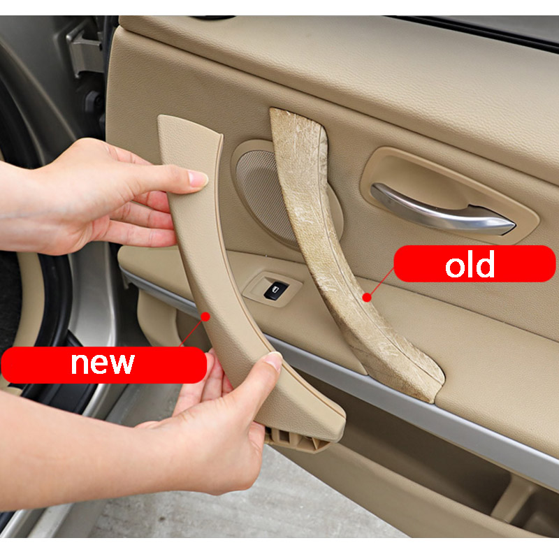 Original Beige Car interior door handle Gray Beige Black left Right For BMW 3 series E90 E91 316 318 320 325 328