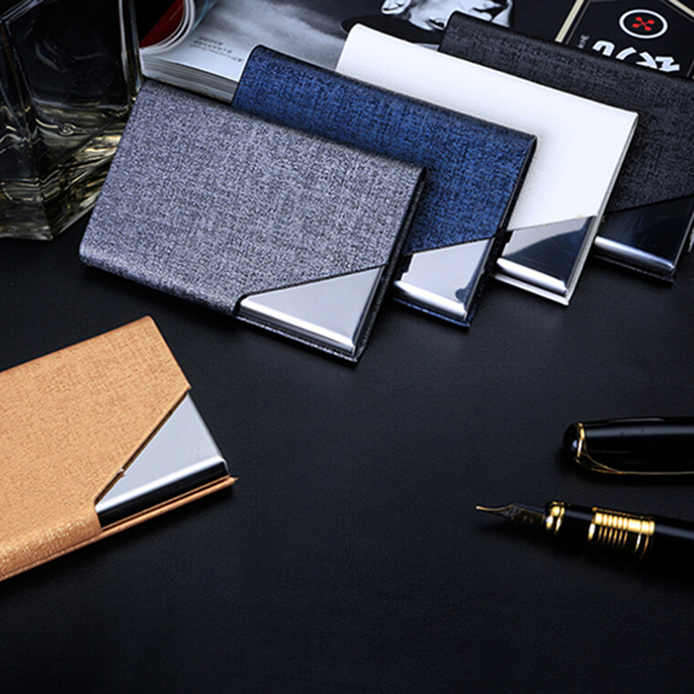1PC Business Stainless Steel Card Holders & Note ID Credit Card Holder Storage Stationery Office School Supplies
