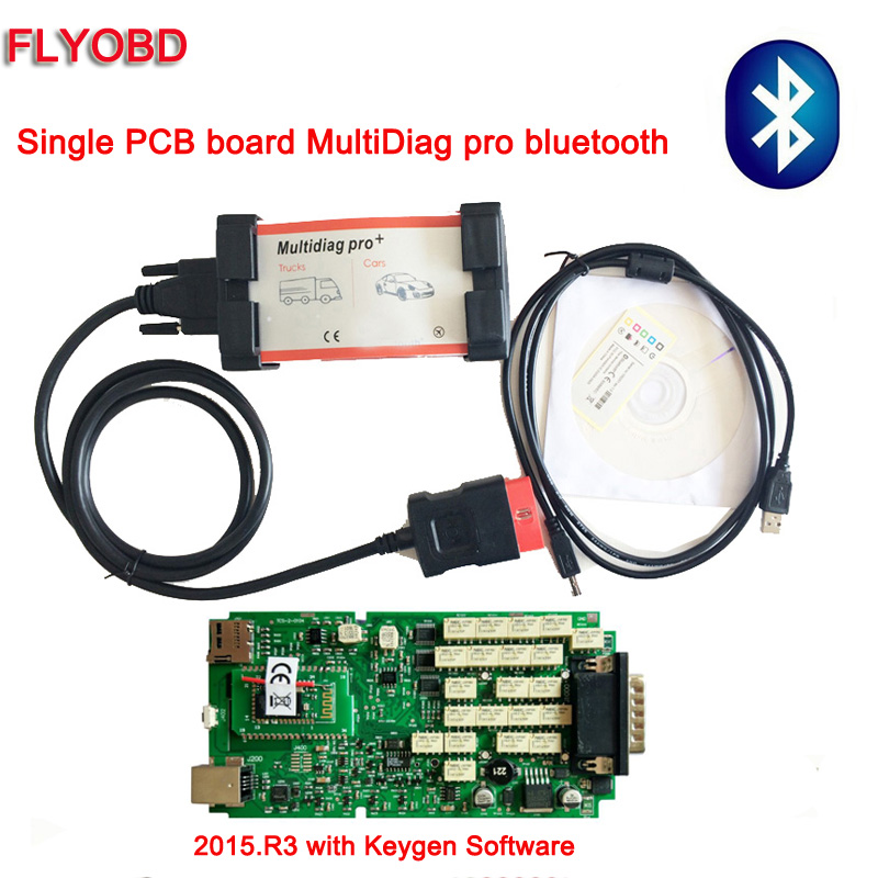 2018 Hot Sale Single board Bluetooth DS-TCS CDP Pro Car Diagnostic Tool  ds150 WoW Snooper Scanner 2015 R3 Software with Keygen