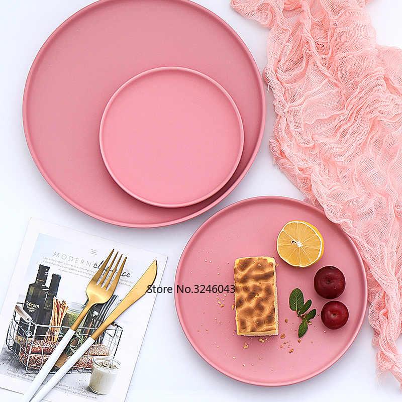 Скандинавские керамические стейки, западное блюдо, китайские тарелки, домашние блюда, креативная тарелка, фруктовое блюдо, десертная посуда