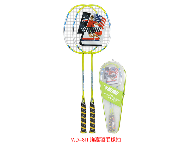 One Pair Quality Carbon Aluminum Professional Badminton Rracket with  Hang Bag