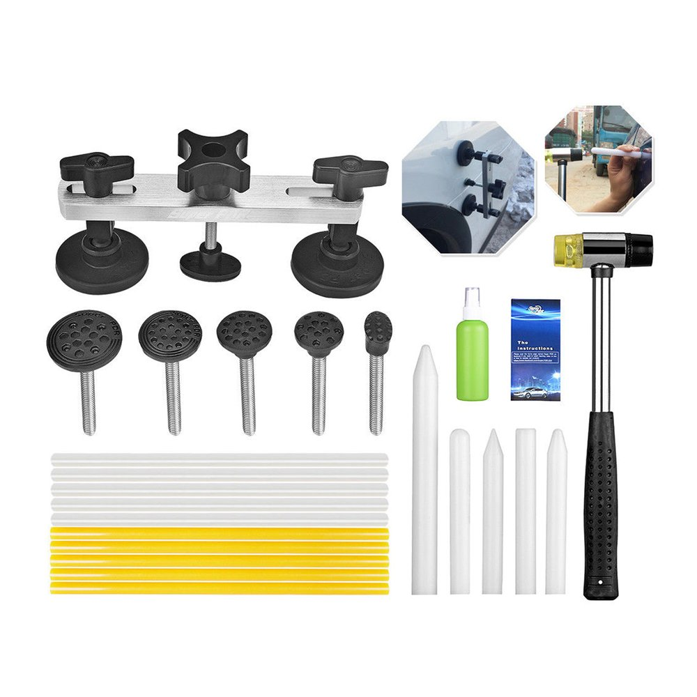 24 x dent repair tools kit pdr dents lifter tool bumps. Black Bedroom Furniture Sets. Home Design Ideas