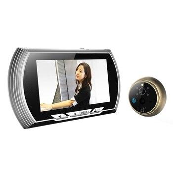4.3 Inch HD Smart Door Peephole Viewer Video Record Door Viewers Camera IR Night Vision PIR Motion Sensor No Disturb Doorbell