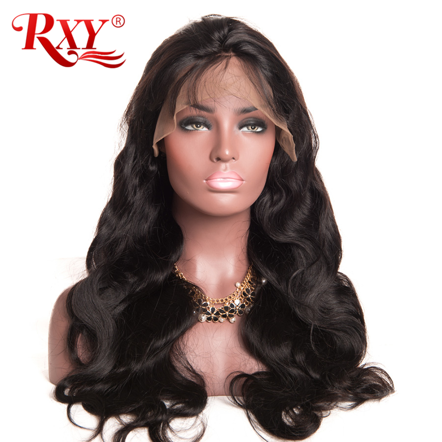 RXY Lace Front Human Hair Wigs For Black Women Pre Plucked Full Lace Human Hair Wigs With Baby Hair Brazilian Body Wave Non Remy