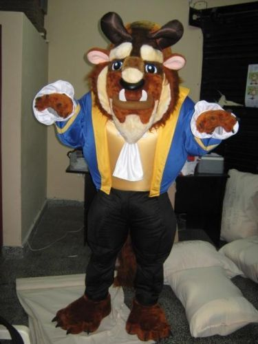 OISK personnalisé la bête mascotte Costumes noël fête d'anniversaire dessin animé mascottes costume fantaisie robe carnaval tenue taille adulte