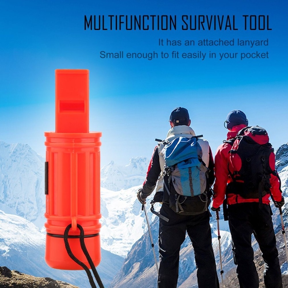 5 In 1 Multi-function Emergency Survival Compass Whistle Camping Tool Newest New Brand Emergency Zone Brand Drop Shipping
