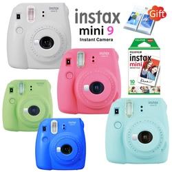 Nova 5 Cores Fujifilm Instax Mini Câmera Fotográfica Instantânea + 10 9 pcs Fuji Instax Mini 8 Película Branca + Livre de Parede Álbum & Close up Da Lente