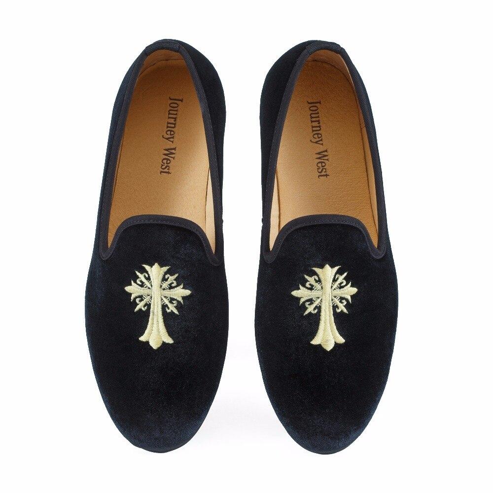 Новый ручной Для мужчин бархат Лоферы для женщин туфли для выпускного вечера Вышивка Для мужчин вечерние модельные туфли для тапочки модны...