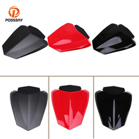 POSSBAY Cafe Racer Red Black Motorcycle Rear Pillion Seat Cowl Fairing Cover for Yamaha YZF R1 2009 2010 2011 2012 2013 2014