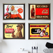 Coke Vintage Time Metal placa estaño carteles calcomanías para póster, Mural placa pintura Bar Club Pub hogar Decoración de pared 30*20cm 1001 (657)