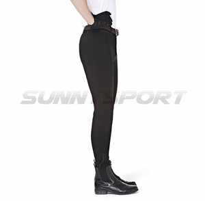 Image 3 - Riding breeches knitted nylon cotton high elastic male Knight pants
