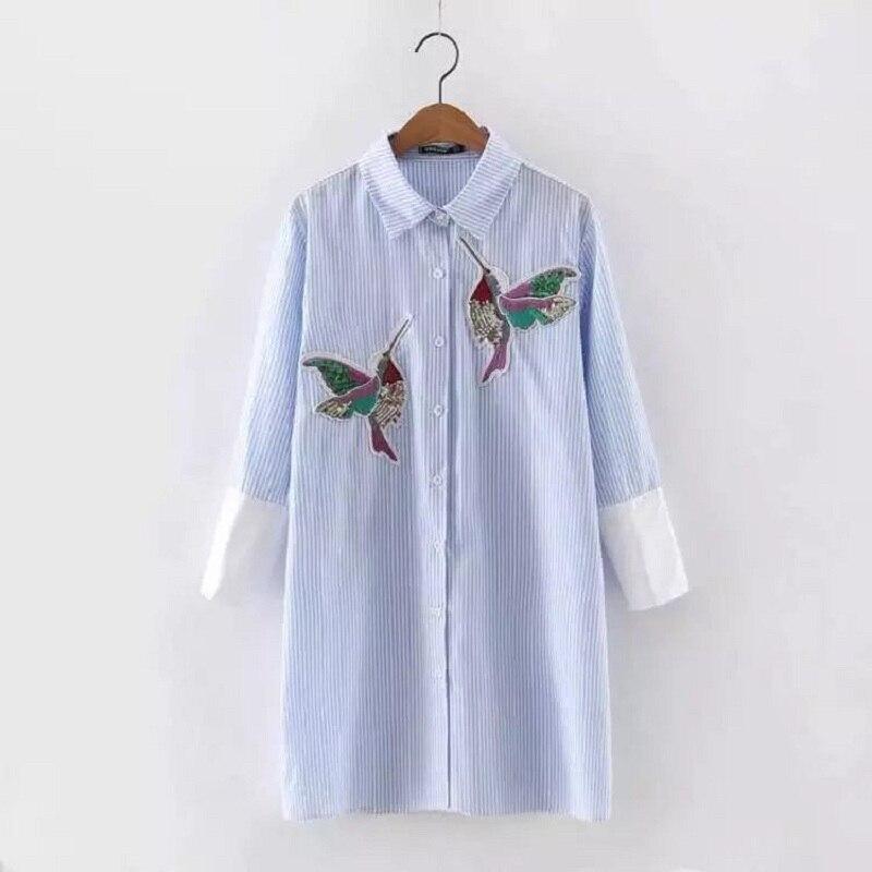 Вышивка птиц на платье