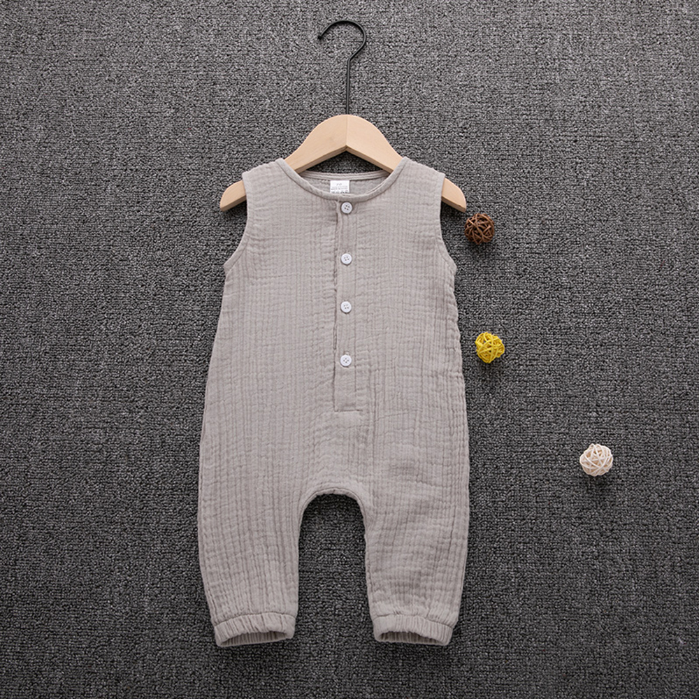 HTB1hTD4NIfpK1RjSZFOq6y6nFXat 2019 Children Summer Clothing Cute Newborn Infant Baby Boy Girl Solid Romper Sleeveless Jumpsuit Outfits Cotton Soft Clothes