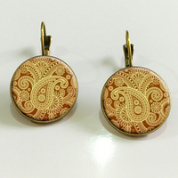 SUTEYI Unique design diy earrings jewelry yoga mandala symbol pendant earring Zen Buddhism crystal earings for women