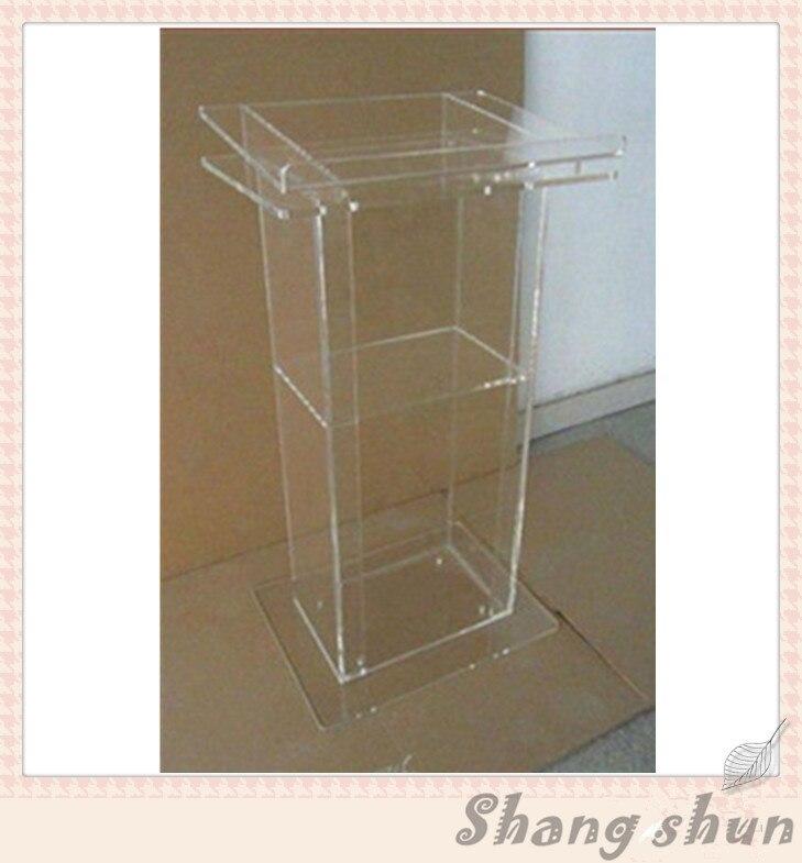 Beautiful Modern Design Cheap Clear Acrylic Lectern Podium Plexiglass
