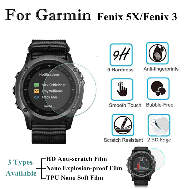 TPU Soft Film /HD Anti-Scratch / Explosion-Proof High Touch Strong Screen Protector Transparency for Garmin for Fenix 5X/Fenix 3