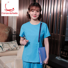 Pet medical staff hospital stomatologist working suit dental nurse long sleeve split body