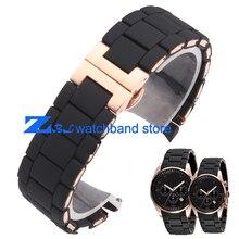 El caucho de silicona correa rosa oro en negro AR gel de sílice para 5905 hombre 23 mm 5906 mujer 20 mm reloj correa de la banda
