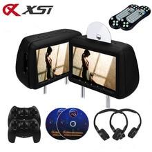 XST 2 шт. 10,1 дюймов Автомобильный подголовник монитор dvd-плеер заднего сиденья автомобиля медиа dvd-плеер с FM/IR/USB/SD(MP5)/беспроводной игры/HDMI порт