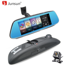 Junsun K716 Car Mirror Video 8″ 4G DVR Camera Android 5.1 with GPS DVRs Automobile Recorder Rearview Mirror Camera Dash Cam