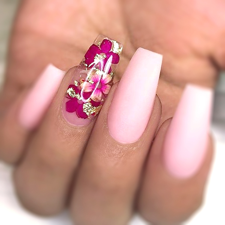 Dried Flowers Nail Art Decoration Natural Dry Floral Leaf DIY Sticker Beauty Jewelry Tips Colorful Nail Gel Ornaments 01 (5)