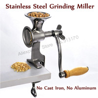 Stainless Steel Flour Mill Coffee Bean Grinding Miller Manual Corn Grinding Machine for Maize Flour with Hand Crank