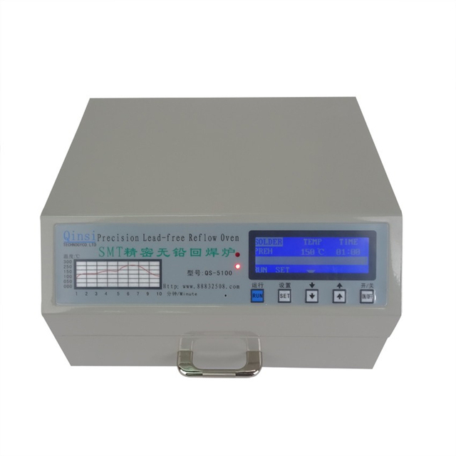 Infrared heating and hot air QS-5100 180*120mm 600W Automatic Lead-Free Reflow Oven with digital display for SMD Rework station