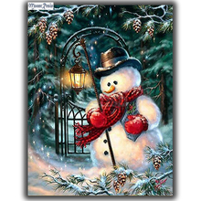 MOONCRESIN Diy Diamond Embroidery Christmas Snowman Diamond Mosaic Rhinestone Diamond Painting Cross Stitch Home Decoration Gift mooncresin 3d diy diamond embroidery christmas elk gift diamond mosaic full diamond painting cross stitch decoration handicrafts