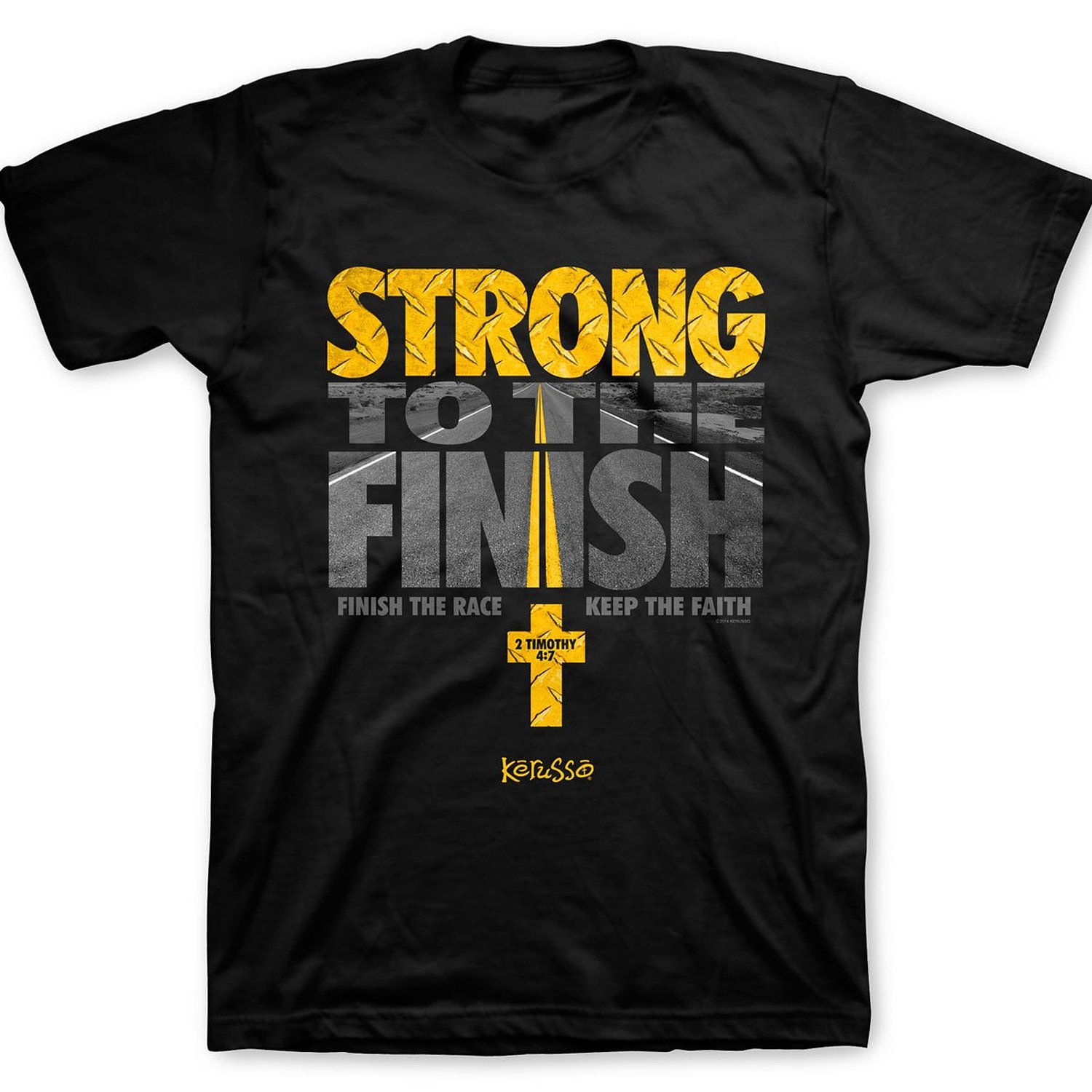 Strong To The Finish T-Shirt Summer Casual Man T Shirt Good Quality Top Tee Short Sleeve Mens Formal Shirts Plus Size