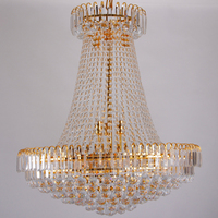 Luxury Royal Empire Golden Europen Crystal Chandelier Large Contemporary Lighting French Style Hotel Lobby Design