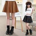 Teenage Kids Pu Skirts For Girls Children Clothing Faux Leather Tutu Skirts Spring Autumn Winter Party Skirts 6 8 10 12 14 Years